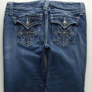 Wrangler Rock 47 BootCut Jeans Junior 7 Cross A119
